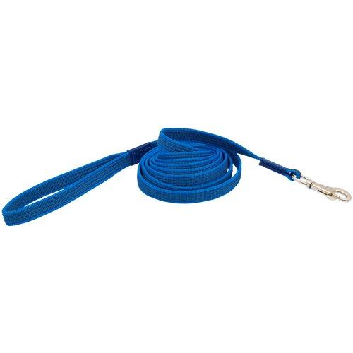 поводок нейлоновый каскад классика с латексной нитью двухсторонний 20 мм х 1 2 м Поводок нейлон с латексной нитью двухсторонний 20мм*10м синий