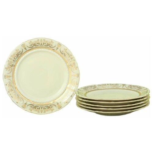 Набор тарелок 19 см 6 шт Leander Соната /Золотая элегантность /СК / 158349 набор салатников соната золотая элегантность 16 см 6 шт 07161413 1373 leander