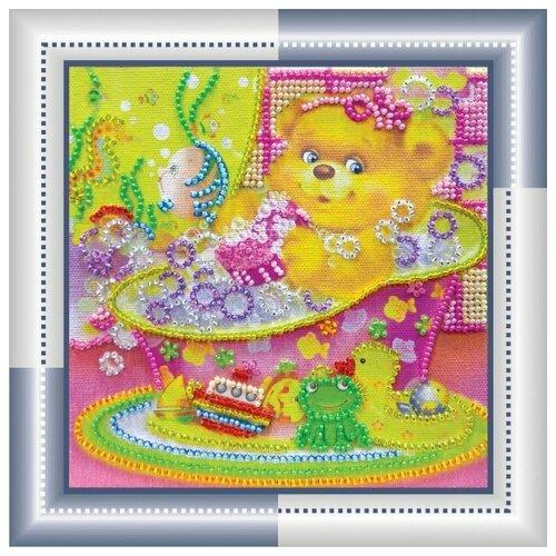 Набор для вышивания бисером абрис АРТ АМ-039 Купание 15х15 см