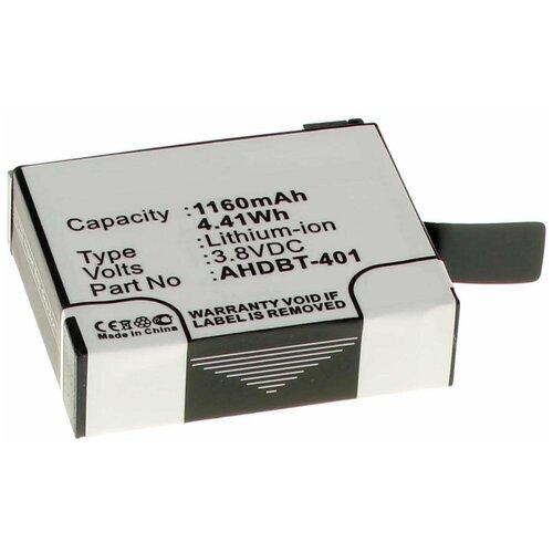 Фото - Аккумулятор iBatt iB-U1-F443 1160mAh для GoPro HD HERO4, аккумулятор ibatt ib u1 f428 1180mah для gopro hd hero3 hd hero3