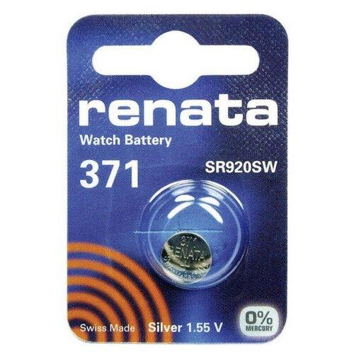 Фото - Батарейка R371 - Renata SR920SW (1 штука) батарейка cr1620 renata 1 штука