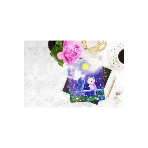 Набор для творчества Алмазная мозаика «Котята в лунном свете», 17*21см Color Puppy 70017 недорого