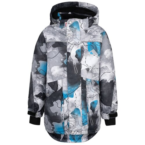 Купить Куртка Oldos Сайрус размер 122, графитовый/голубой, Куртки и пуховики