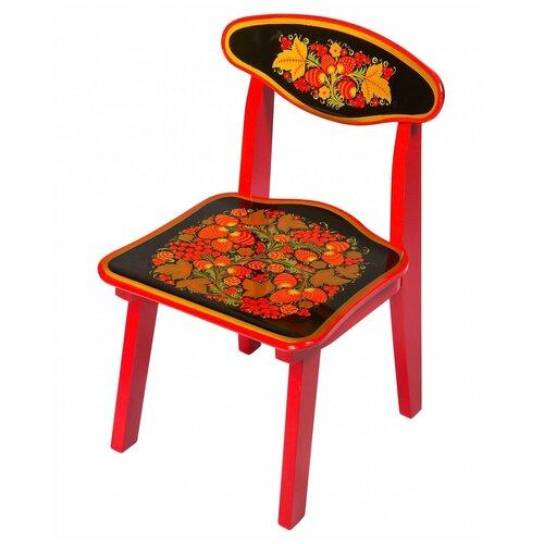 Купить Детский стульчик Хохлома с росписью ягода/цветок рост 1, Хохломская роспись, Стулья и табуреты