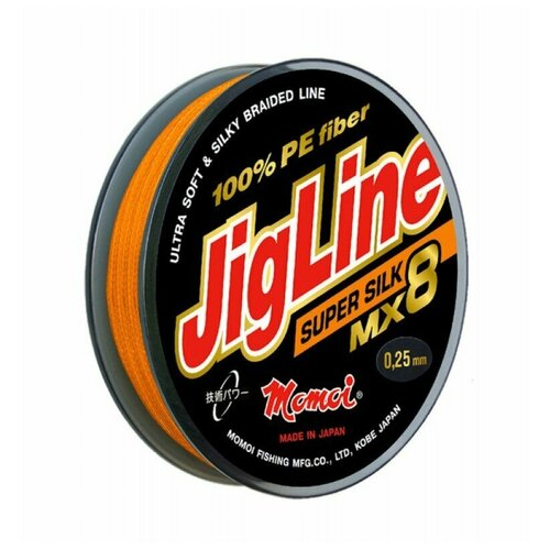 Плетеный шнур Jigline MX8 Super Silk 100 м, 0,14 мм