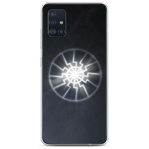 Чехол Силиконовый Samsung Galaxy A51 Черное солнце