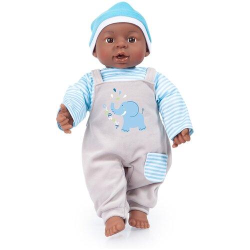 Пупс Bayer Малыш в костюме cо слоном Голубой, 40 см