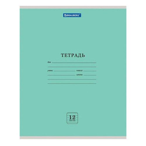 Купить Тетрадь 12 л. BRAUBERG ЭКО , линия, обложка плотная мелованная бумага, ЗЕЛЕНАЯ ПАСТЕЛЬНАЯ, 105673 - 10 шт., Тетради
