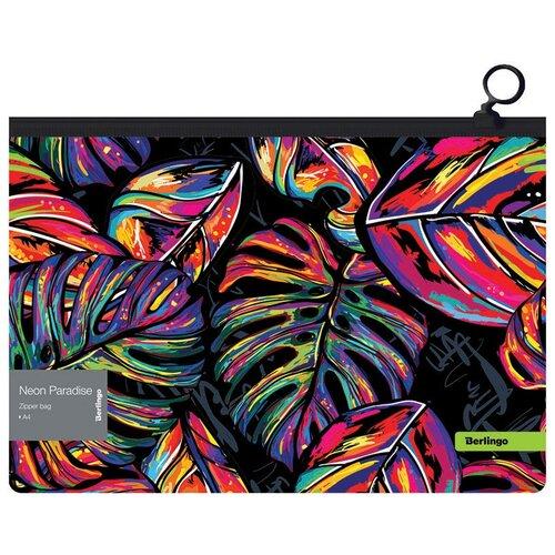 Купить Berlingo Папка-конверт А4 на молнии Neon Paradise, полипропилен, 12 штук, Файлы и папки