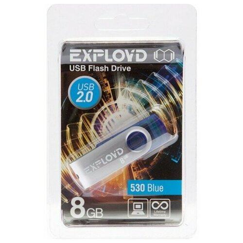 Фото - Флеш-накопитель USB 8GB Exployd 530 синий флеш накопитель hoco ud6 8gb