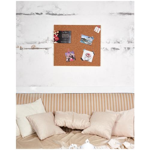 Пробковая доска Doski4you на стену 56х46см для заметок и декора дома и офиса