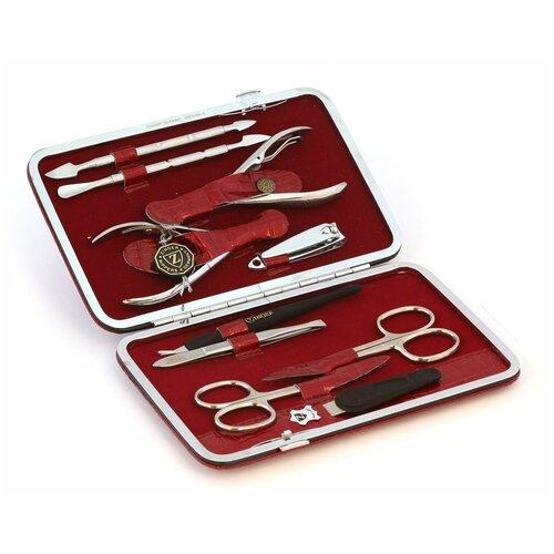 Фото - Маникюрный набор Zinger MSFC-804 S, серебристый, с книпсером, 10 предметов. маникюрный набор с косметичкой zinger ms 1205 804 s 10 предметов