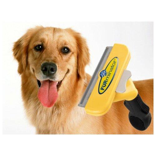 Фурминатор - расческа ширина лезвия 10 см приспособление для вычесывания кошек и собак L