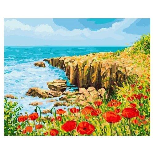 Картина по номерам GX 22954 Маковое поле у моря 40*50 картина по номерам flamingo маковое поле 3991234 40 х 50 см