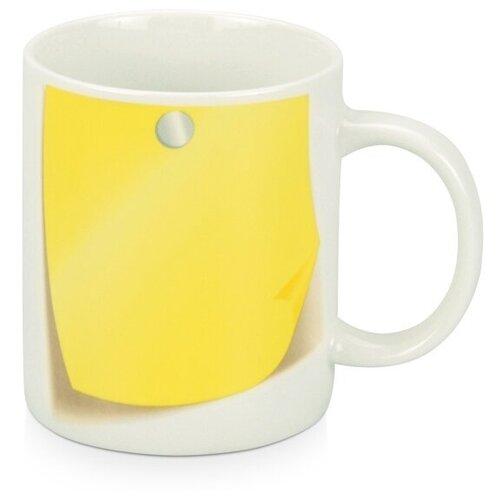 Кружка «Оставь заметку!», белый/желтый