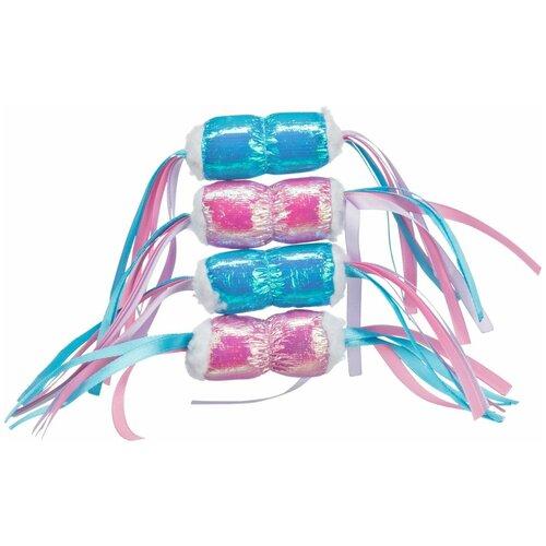 Блестящая конфетка, ткань, с кошачьей мятой, 7 см, Trixie (игрушка для кошек, 45607) trixie trixie набор мышек для кошек 5 см с мятой 6 шт