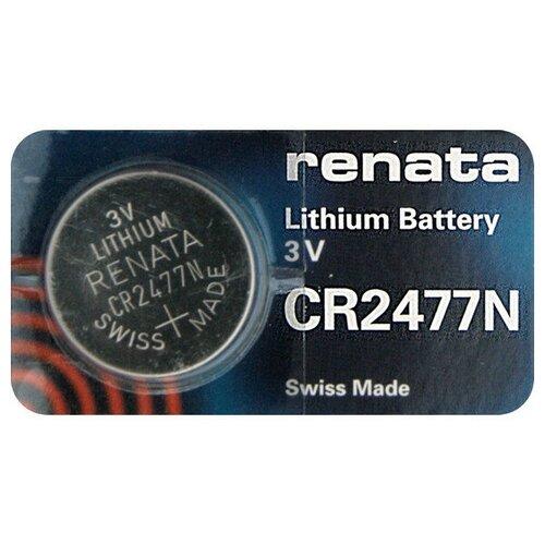 Фото - Батарейка CR2477N - Renata (1 штука) батарейка cr1620 renata 1 штука