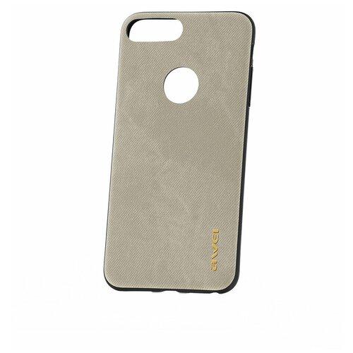 Чехол на Apple iPhone 8 plus / 7 Plus Awei F3 Silver / Чехол для Apple iPhone / чехол для айфон / бампер на айфон / чехол накладка для iPhone / противоударная накладка для iPhone / защита для iPhone / защита на айфон / силиконовый чехол для iPhone / пластиковый чехол на iPhone / защитный чехол для iPhone