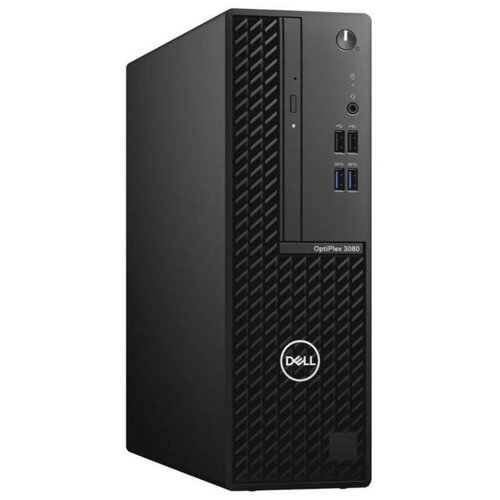 Настольный компьютер DELL Optiplex 3080 SFF (3080-9797) Intel Core i3-10105/8 ГБ/256 ГБ SSD/Intel UHD Graphics 630/Windows 10 Pro черный