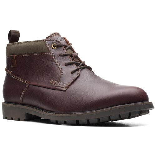 Ботинки Clarks , размер 44 , Mahogany leather туфли clarks clarks cl567ambuup3