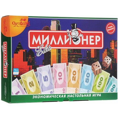Игра настольная «Миллионер Elite», игровое поле, банкноты, жетоны, акции, полисы, ORIGAMI, 00111