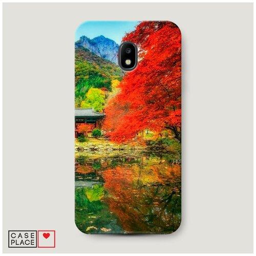 Чехол Пластиковый Samsung Galaxy J3 2017 Осенний сад