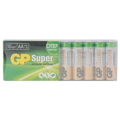 Фото - Батарейки GP Super AA/LR6/15A алкалин., 10 шт/уп. GP15-ZCRB10 батарейки lr6 aa щелочные 10 шт
