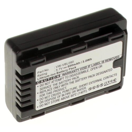 Аккумуляторная батарея iBatt 800mAh для Panasonic HDC-TM41, SDR-H86, SDR-T55