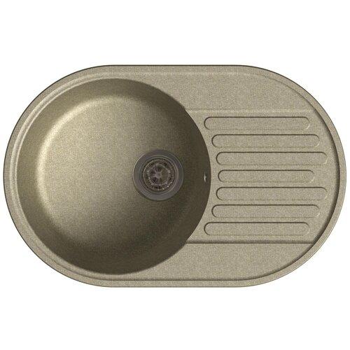 Врезная кухонная мойка 73.7 см GranFest Quarz GF-Z18 песочный врезная кухонная мойка 73 7 см granfest quarz gf z18 терракот