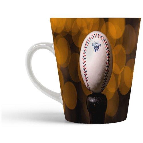 Кружка-латте CoolPodarok Бейсбол Бейсбольный мяч Крупный план