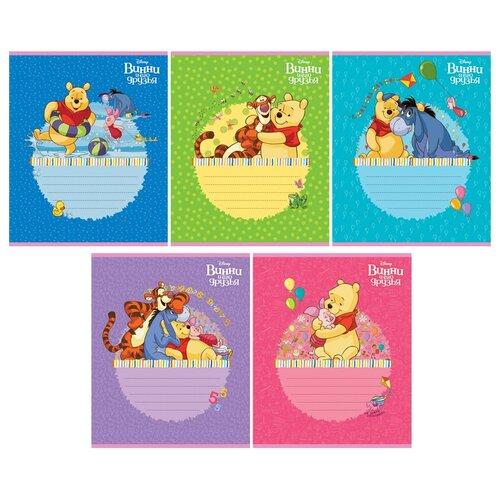 Hatber Упаковка тетрадей Disney. Винни и его друзья 12Т5В1, 10 шт./5 дизайнов, клетка, 12 л. набор тетрадей hatber классика 12т5в1