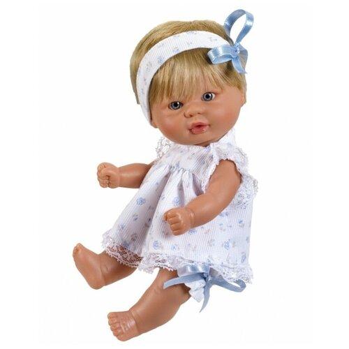 Asi ASI Кукла виниловая Аси (Asi) пупсик в легком голубом платье (20 см)