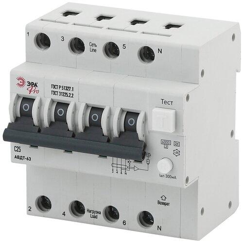 Фото - ЭРА Pro Автоматический выключатель дифференциального тока NO-902-22 АВДТ 63 3P+N C25 300мА тип A (30 автоматический выключатель дифференциального тока tdm electric sq0202 0004 авдт 63 c25 30 ма