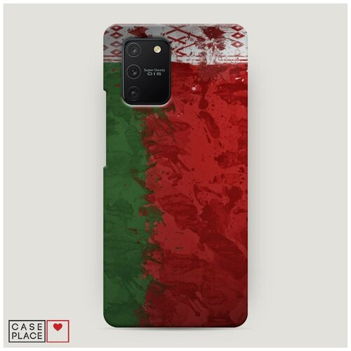Чехол Пластиковый Samsung Galaxy A91 Флаг Белоруссии 2
