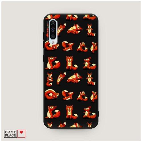 Чехол силиконовый Матовый Samsung Galaxy A50 Лисья йога