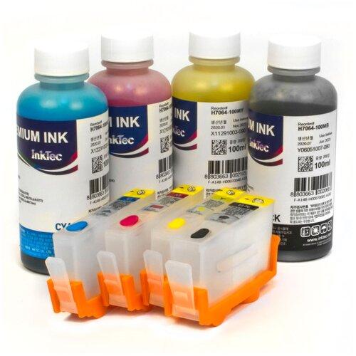 Фото - Набор перезаправляемых картриджей и чернила InkTec H7064 для HP Deskjet Ink Advantage 3525, 3520, 4615, 4625, 5525, 6525, 3625 чернила hp 655 hp655 для hp deskjet 3525 5525 6525 4615 4625 набор 9 предметов инструкция совместимые