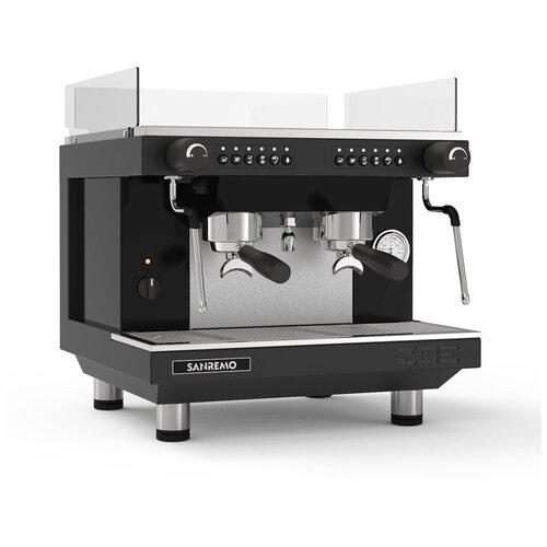 Кофемашина-автомат рожковая профессиональная для дома и кофейни Sanremo ZOE KOMPACT 2GR SED, 2 группы, черная