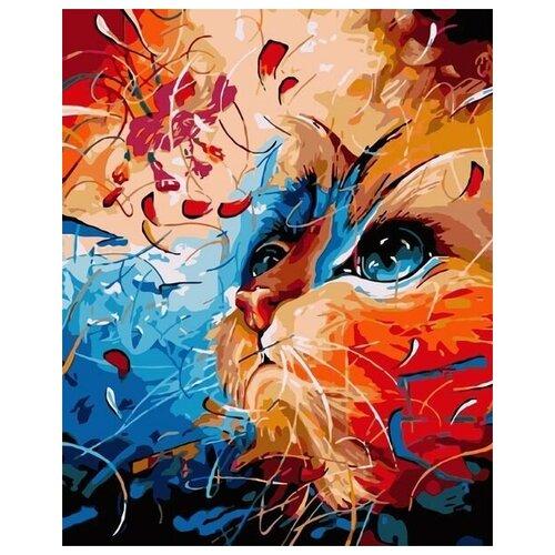 Купить Картина по номерам RADUGA VA-0134 Рыжий кот 40х50см, Paintboy, Картины по номерам и контурам