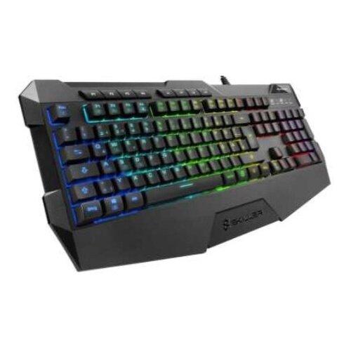 Клавиатура Sharkoon Skiller SGK4 проводная игровая для PC (черная)