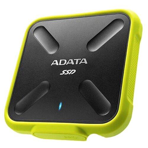 Твердотельный накопитель A-Data SD700 256Gb Yellow ASD700-256GU31-CYL adata sd700 series 256gb asd700 256gu31 cbk черный