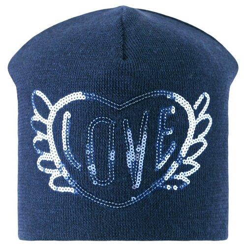 Шапка-бини Lassie размер 50, синий шапка бини playtoday размер 50 темно синий