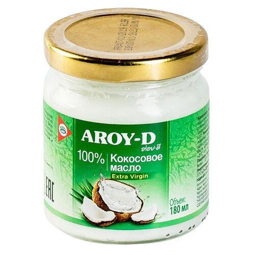 Фото - Aroy-D масло 100% кокосовое (extra virgin), 0.18 л aroy d масло 100% кокосовое extra virgin 0 18 л