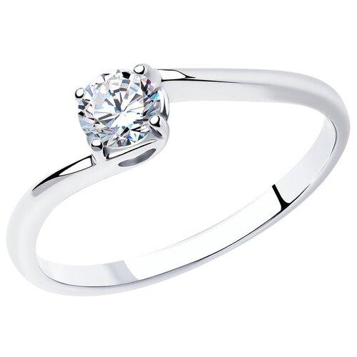 SOKOLOV Помолвочное кольцо из серебра с фианитом 89010026, размер 16.5