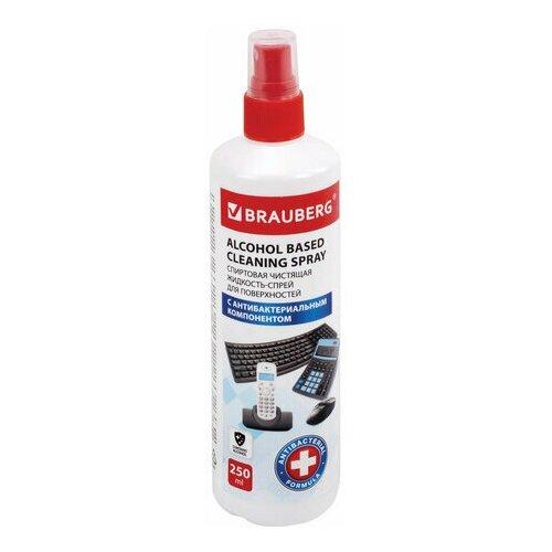 Фото - Чистящая жидкость-спрей спиртовая универсальная антибактериальная, BRAUBERG, 250 мл, 513535 чистящая жидкость спрей brauberg 513288