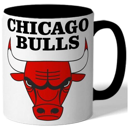 Кружка цветная в подарок баскетболисту Chicago bulls