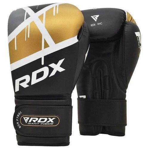 Перчатки боксерские RDX BOXING GLOVE BGR-F7 BLACK GOLDEN черный искусственная кожа цвет черный размер 12oz