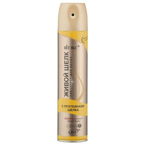 Купить Витэкс Лак-блеск для волос Живой шёлк аэрозольный, экстрасильная фиксация, 300 мл
