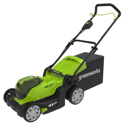 Газонокосилка аккумуляторная Greenworks G24X2LM41 2512607, 2*24V, 41 см, без АКБ и ЗУ газонокосилка аккумуляторная greenworks g max g40lm35 2501907 без акб и зу
