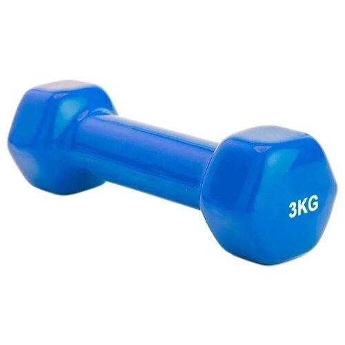 Гантель цельнолитая BRADEX SF 0163/SF 0164 3 кг синий гантель bradex sf 0164 1гант 3кг обрезин синий