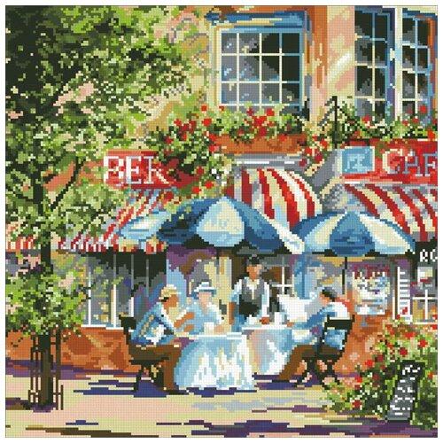 Купить Алмазная мозаика Летнее кафе, картина стразами Паутинка 40x40 см., Алмазная вышивка